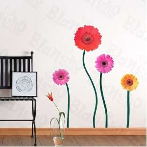 HEMU XS 001   Joyful Flowerful   Large Wall Decals Stickers Appliques