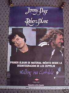 JIMMY PAGE ROBERT PLANT import Concert poster tour