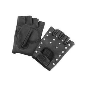 RIVER ROAD VEGAS SHORTY LEATHER GLOVES (X SMALL) (BLACK