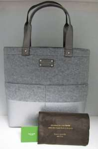 Kate Spade Bon Shopper Dipped Tote Purse Bag Frosted Felt NWT Free