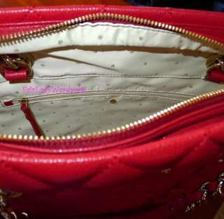 NEW $445 Kate Spade Gold Coast Sierra Quilted Tote Scarlet Red