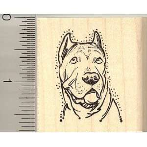 Cane Corso Dog Portrait Rubber Stamp   Wood Mounted Arts