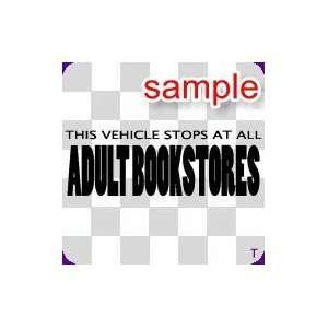 RANDOM VEHICLE STOP 10 WHITE VINYL DECAL STICKER
