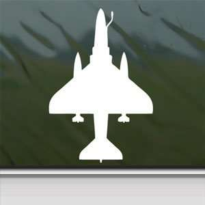 A 4 Skyhawk Douglas Navy Fighter White Sticker Laptop