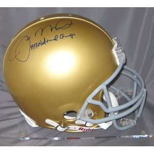Joe Montana Autographed/Hand Signed Notre Dame Full Size