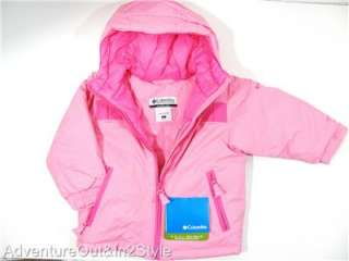 NEW COLUMBIA Girls Winter Coat Jacket Sz 2T 3T 4T (Insulated) NWT $75