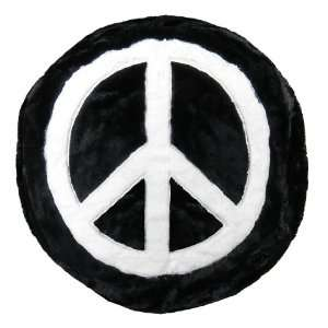 Plush Faux Fur Ottoman Bean Chair Sack  Peace Design