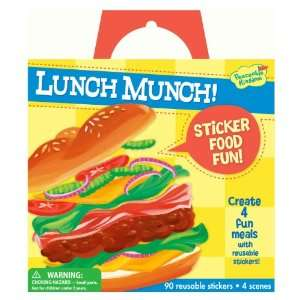 / Lunch Munch Sticker Food Fun Reusable Sticker Tote Toys & Games