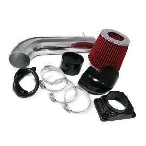 Sebring 3.0L Short Ram Air Intake + Filter By Bomz Racing Black/Red