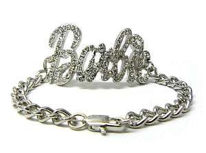 Iced Out NICKI MINAJ BARBIE Chain Bracelet Silver