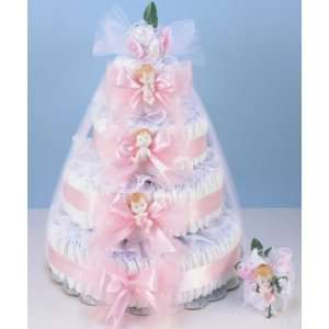 4 Tier Elegant Diaper Cake for Baby (Pink) Baby