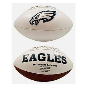 Michael Vick Autographed Philadelphia Eagles Logo Football