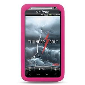 Hot Pink Soft Silicone Skin Gel Cover Case for Htc