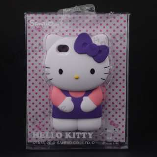 3D Hello Kitty Cute Soft Silicone Back Case Cover Skin for iPhone4 4S