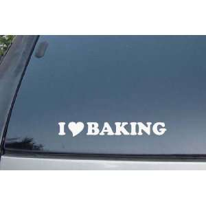 I Love Baking Vinyl Decal Stickers