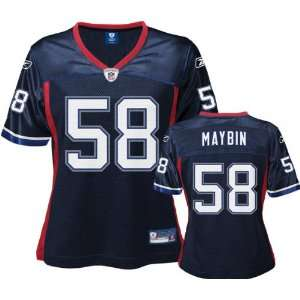 Aaron Maybin Navy Reebok NFL Replica Buffalo Bills Womens