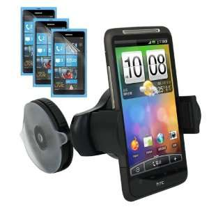 of LCD Clear Screen Protector + Black Car Holder for Nokia Lumia 800
