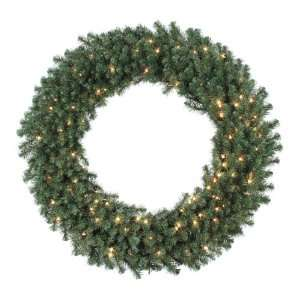 5 Pre Lit Douglas Fir Artificial Christmas Wreath   Clear