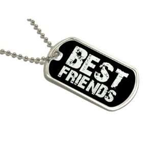 Best Friends   Military Dog Tag Keychain Automotive