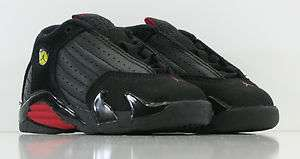 JORDAN RETRO 14 BLACK RED LAST SHOT TODDLER BABY SZ 4 10 JORDAN 14