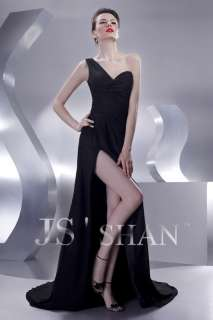 JSSHAN Sexy One shoulder Ball Evening Gown Prom Dress