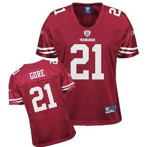 Francisco 49ers Frank Gore Womens Replica Jersey