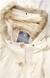NEW AUTH $198 Free People Faux Fur Hooded Coat White M