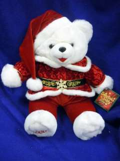 SNOWFLAKE TEDDY 2000 CHRISTMAS TEDDY BEAR SANTA 23