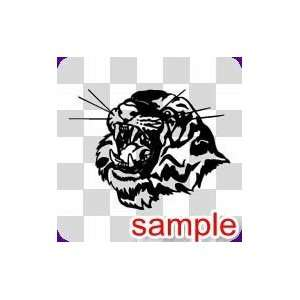 ANIMAL TIGER FACE WHITE VINYL DECAL STICKER