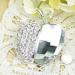 Crystal Apple Jewelry USB Flash Drive with Necklace4GB