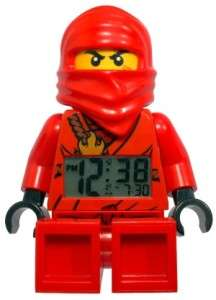 New KAI NINJAGO Red Ninja Golden Sword ALARM CLOCK LEGO Poseable mini