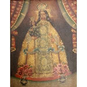 Our Lady / Virgin Mary Cuzco Religious Oil Painting Peru 11x15 Madonna