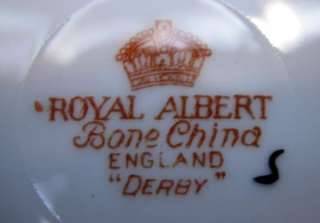 Royal Albert Derby 4 Lunchen Plates 9 inches