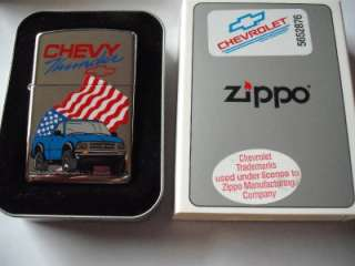 CHEVY THUNDER ZIPPO LIGHTER VINTAGE XIV 1998 CHEVROLET PICKUP TRUCK