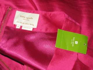NWT Kate Spade Bette Dress Pink Silk 12