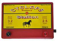 CYCLOPS STALLION 2.5 JOULE, 25 MILE, ELECTRIC FENCE CHARGER