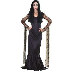 Adams Family Womens Morticia Costume Long Black Dress With
