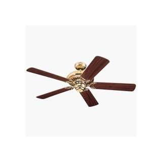 Monte Carlo 5LCR52PB Light Cast Ceiling Fan Polished Brass Finish with