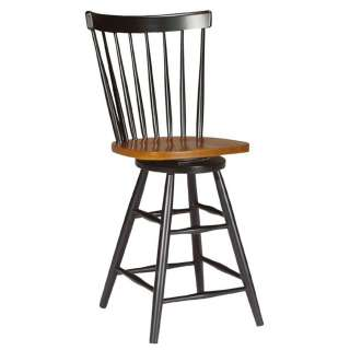 Copenhagen Swivel Counter Height Bar Stool   24 Inch   Black / Cherry