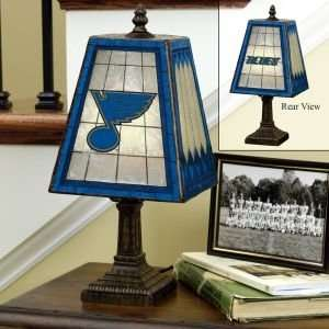 ST. LOUIS BLUES 14 IN ART GLASS TABLE LAMP