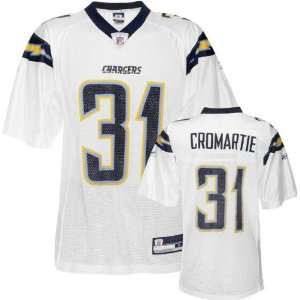 Antonio Cromartie White Reebok NFL Replica San Diego Chargers Jersey