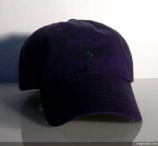 New POLO RALPH LAUREN Purple Mens BASEBALL CAP Hat Green PONY unisex