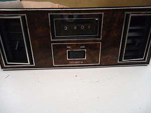 1988 CUTLASS SUPREME, 442 CENTER DASH TRIM VENTS AND DASH CLOCK