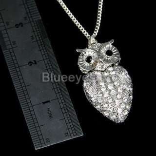 4GB Silver Crystal Owl Necklace Jewelry USB 2.0 Flash Memory Pen Drive