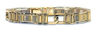 bands loose diamonds 14k two tone gold yg wg men s link bracelet 10