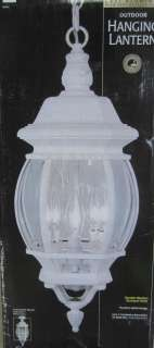 Trans Globe 240 301 Outdoor Hanging or Ceiling Lantern White