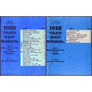 1988 Ford F, B, C 600 8000 Medium and Heavy Truck Repair Shop Manual