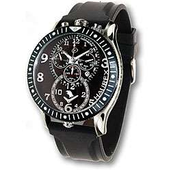 Haurex Italy Raptor Mens Dual Time Black Watch