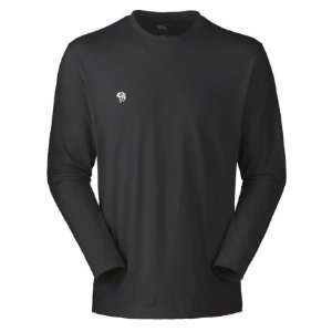 Mens Mountain Hardwear Logo T Shirt Long Sleeve Lava (M) Sports