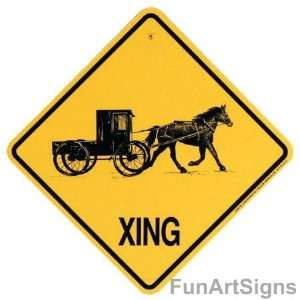 Horse & Buggy Crossing Xing Sign